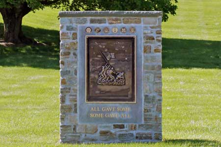war memorial bronze custom signage